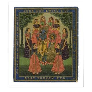 Vintage Dancing Ladies Indian Trade Label Print