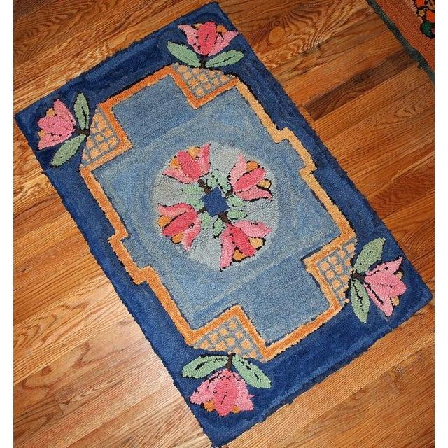 S handmade antique american hooked rug