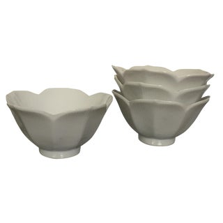 Chinoiserie Floral Lotus Bowls - Set of 4