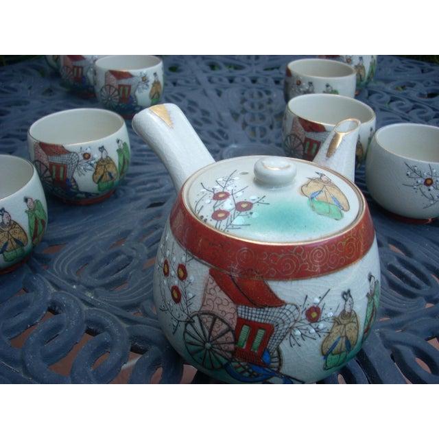 Vintage Chinoiserie Tea Seat - Set of 11 - Image 3 of 6