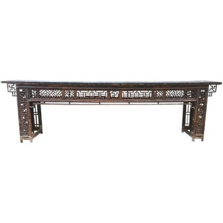 An Impressive Long Chinese Country Console Table, 10 Feet Long