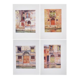 'Windows & Doors of Venice' Antique Lithographs - Set of 4