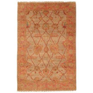 Pasargad N Y Indo Original Oushak Hand-Knotted Rug - 6' X 9'