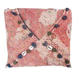 Vintage Indian Textile Accent Pillow