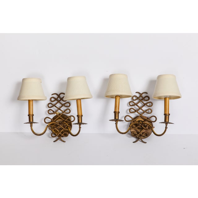 Vintage Brass Sconces - A Pair - Image 2 of 5