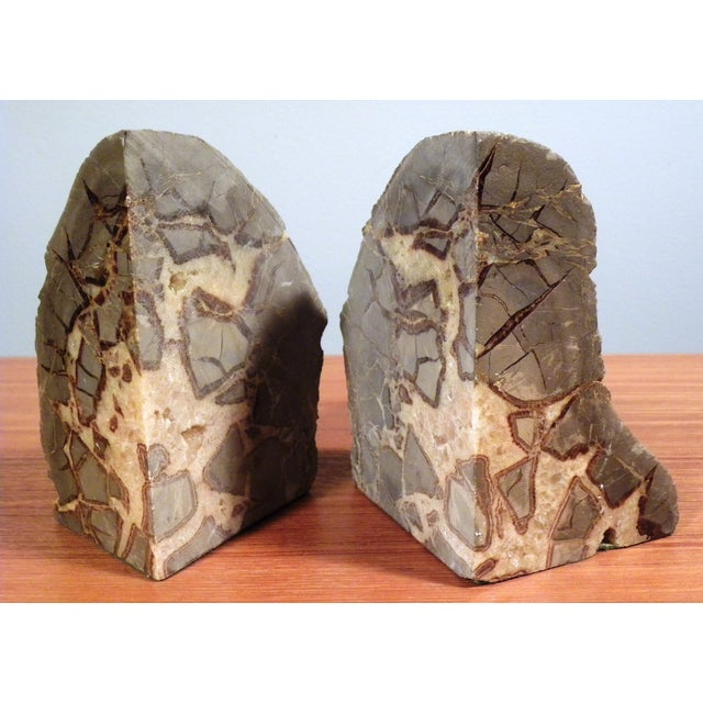 Vintage Mid-Century Modern Agate Bookends - A Pair - Image 3 of 6