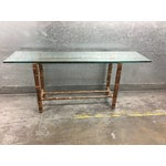 Image of McGuire Bamboo & Glass Console Table