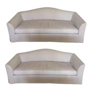 Restoration Hardware Belgian Linen Sofas - A Pair