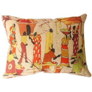 African Batik Accent Pillow