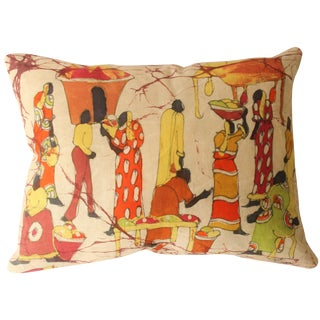 African Batik Accent Pillow