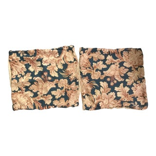Vintage Linen Floral Pillow Cases - A Pair