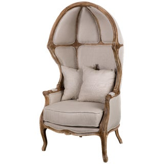 Beige Balloon Accent Chair