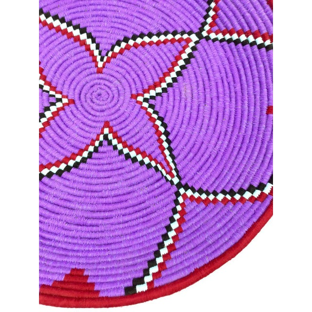 Purple and Red Moroccan Wool Tray - Image 6 of 8