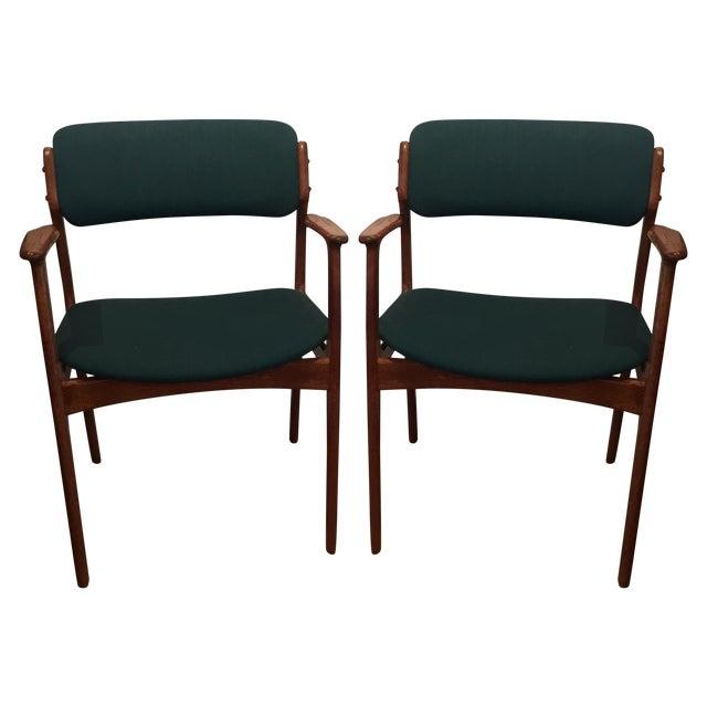 Danish Modern Erik Buch Chairs - Set of Two - Image 1 of 11