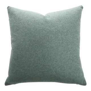 Italian Sage Green Sustainable Wool Pillow