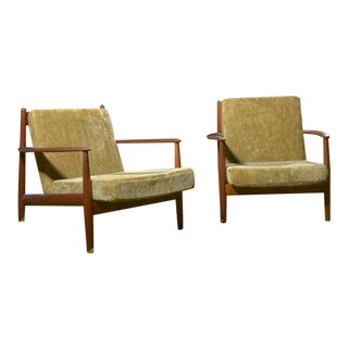Mid-Century Danish Grete Jalk Lounge Chairs - A Pair