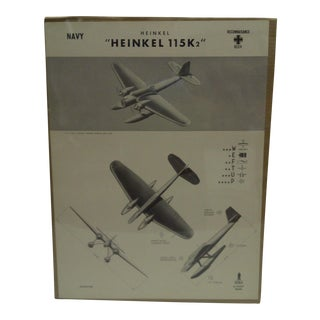 WWII Heinkel 115 K2 Aircraft Recognition Poster