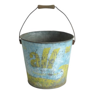 Mid-Century Distressed Laundry Bucket