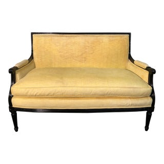 Vintage Yellow Upholstered Settee