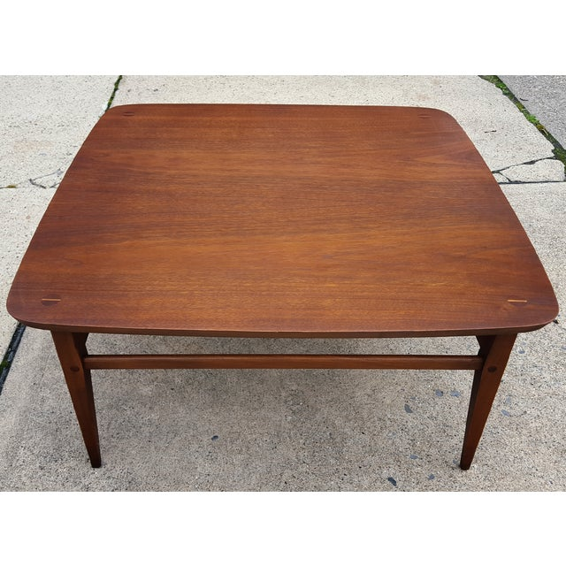 Mid century lane co corner side table chairish for Corner side table