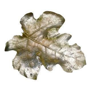 Solid Brass Fig Tree Leaf Catchall