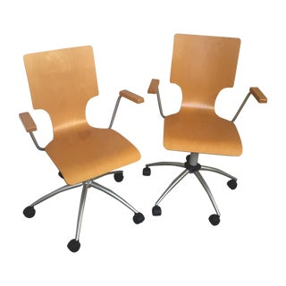 SHS Modern Rolling Office Chairs - A Pair