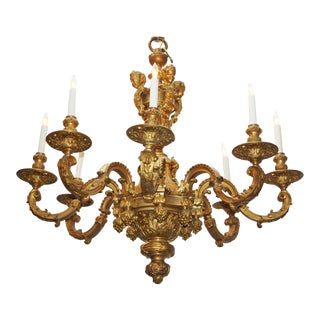 Régence Style Gilt Bronze Eight-Arm Chandelier