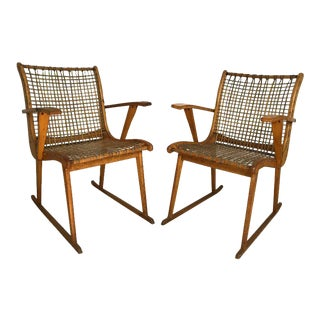 Vermont Tubbs Wood Armchairs - A Pair