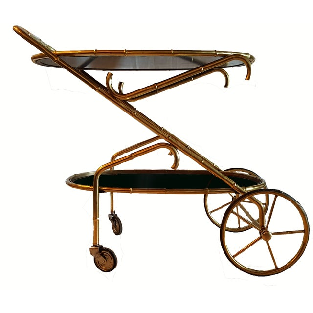 Vintage Maison Bagues French Oval Bar Cart - Image 2 of 7