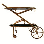 Image of Vintage Maison Bagues French Oval Bar Cart