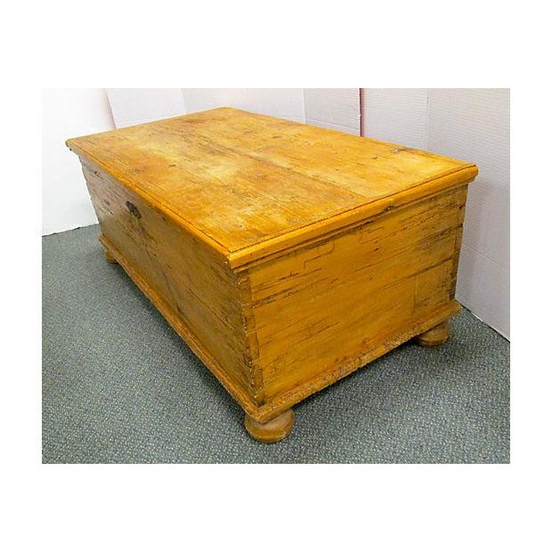 Trunk Coffee Table Pine: Antique Pine Chest Trunk Coffee Table