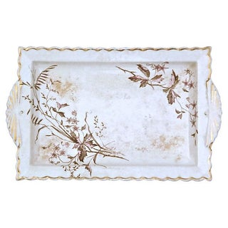 Antique Transferware Wildflower Tray