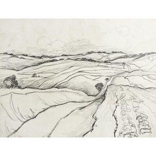 Landscape Pencil Study by G. Baer