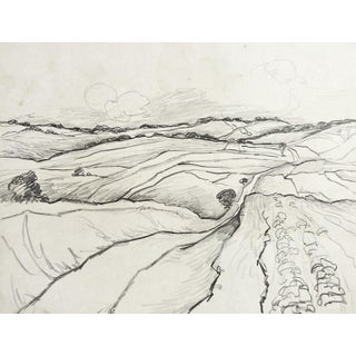 Landscape Pencil Study by G. Baer