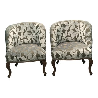 French Vintage Slipper Chairs - A Pair