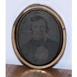 Image of Unique Circular Tintype Photo