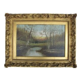 Autumn Scene Oil Painting on Canvas