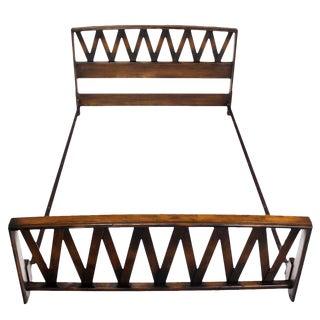 Paul Frankl Lattice Full Bed Frame