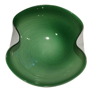 Green Murano Free Form Bowl