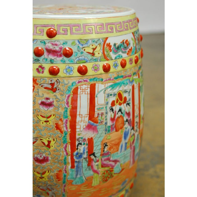 Chinese Hand-Painted Porcelain Garden Stool - Image 3 of 5
