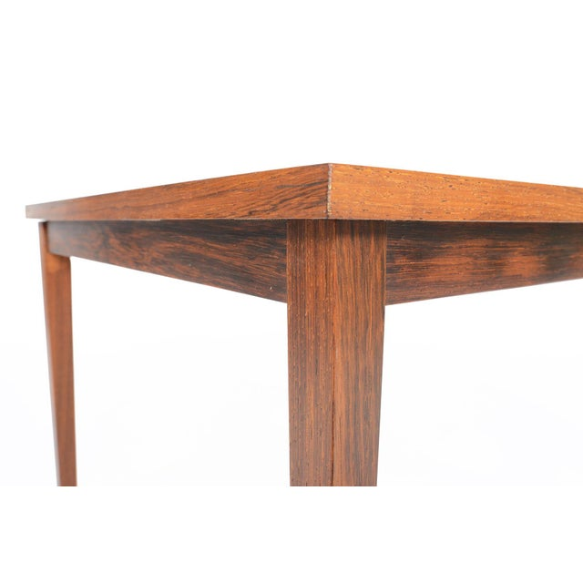 Danish Modern Square Slatted Rosewood Coffee Table Chairish