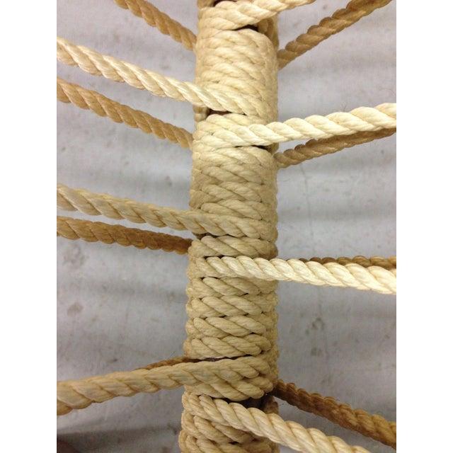Mid-Century Woven Rope Magazine Rack - Image 8 of 11