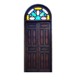 Stained Glass Window Moroccan Medina Door
