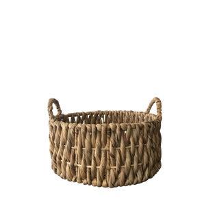 Round Rattan Basket with Handles