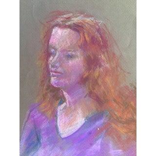 Mid-Century Pastel Portrait of a Woman