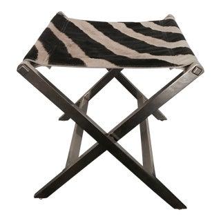 Zebra Skin & Chrome X Stool