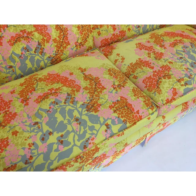 Image of Dorothy Draper Floral Sofa