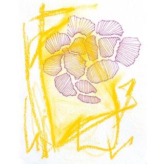 Magenta Mess Original Acrylic & Pastel Painting