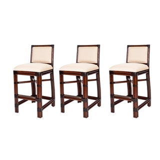 David Francis Windsor Bar Stools - Set of 3