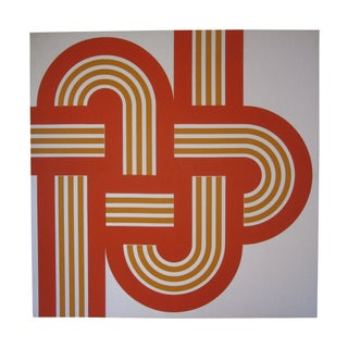 "Funky Retro 1970s Orange ""Weave"" Canvas Print"